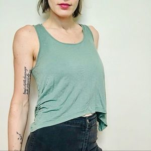 FREE W/Purchase - Y2K AEO Green Crop Tank Top